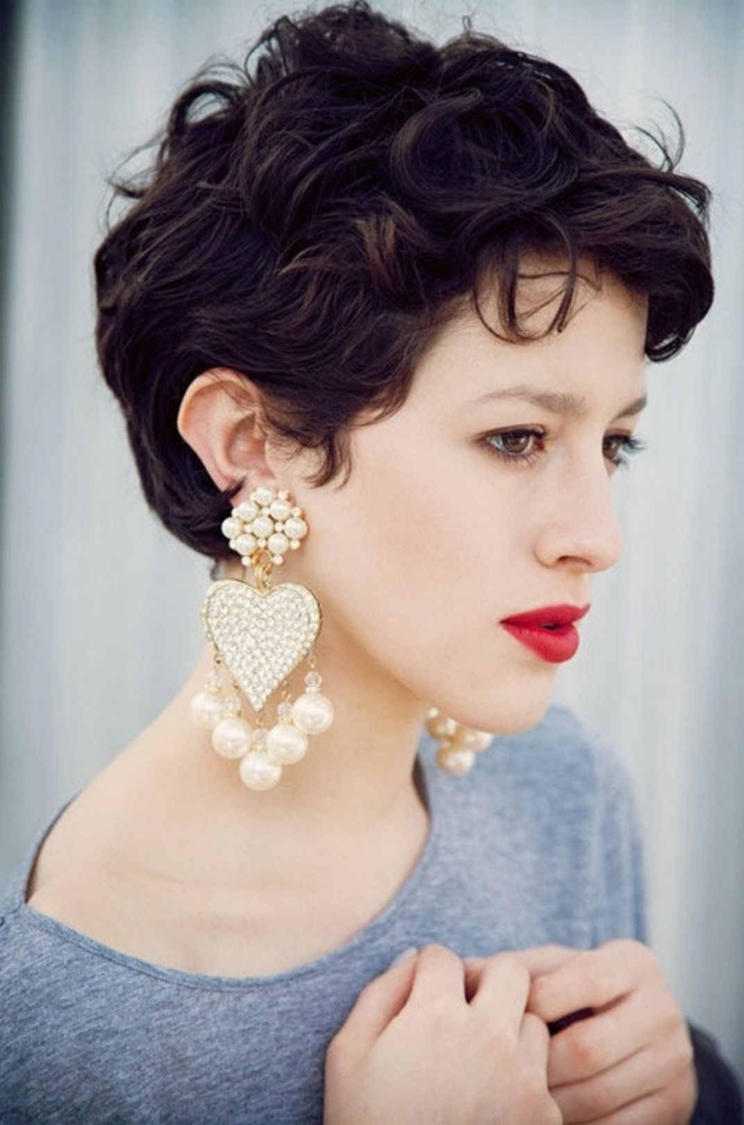 Pixie Haircut Wavy Hair Pixie Hairstyles For Thick Hair Women Intended For Latest Pixie Hairstyles For Thick Wavy Hair (View 7 of 15)