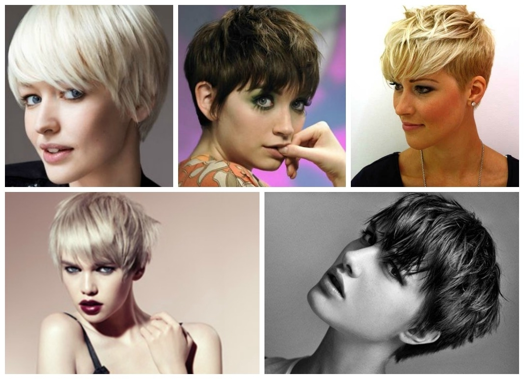View Photos Of Short Pixie Hairstyles With Long Bangs Showing 1 Of