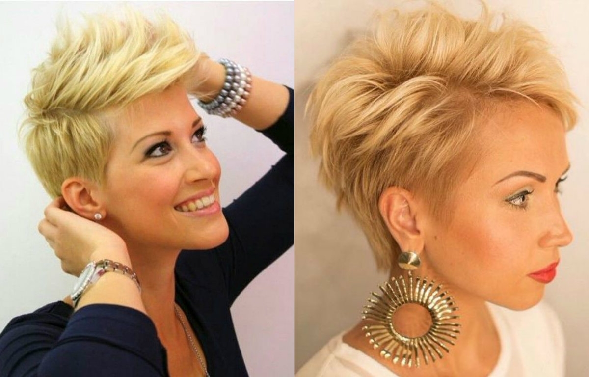 Pixie Haircuts : Top Layered Pixie Haircuts: Short And Blonde Regarding Most Recently Short Blonde Pixie Hairstyles (View 15 of 15)