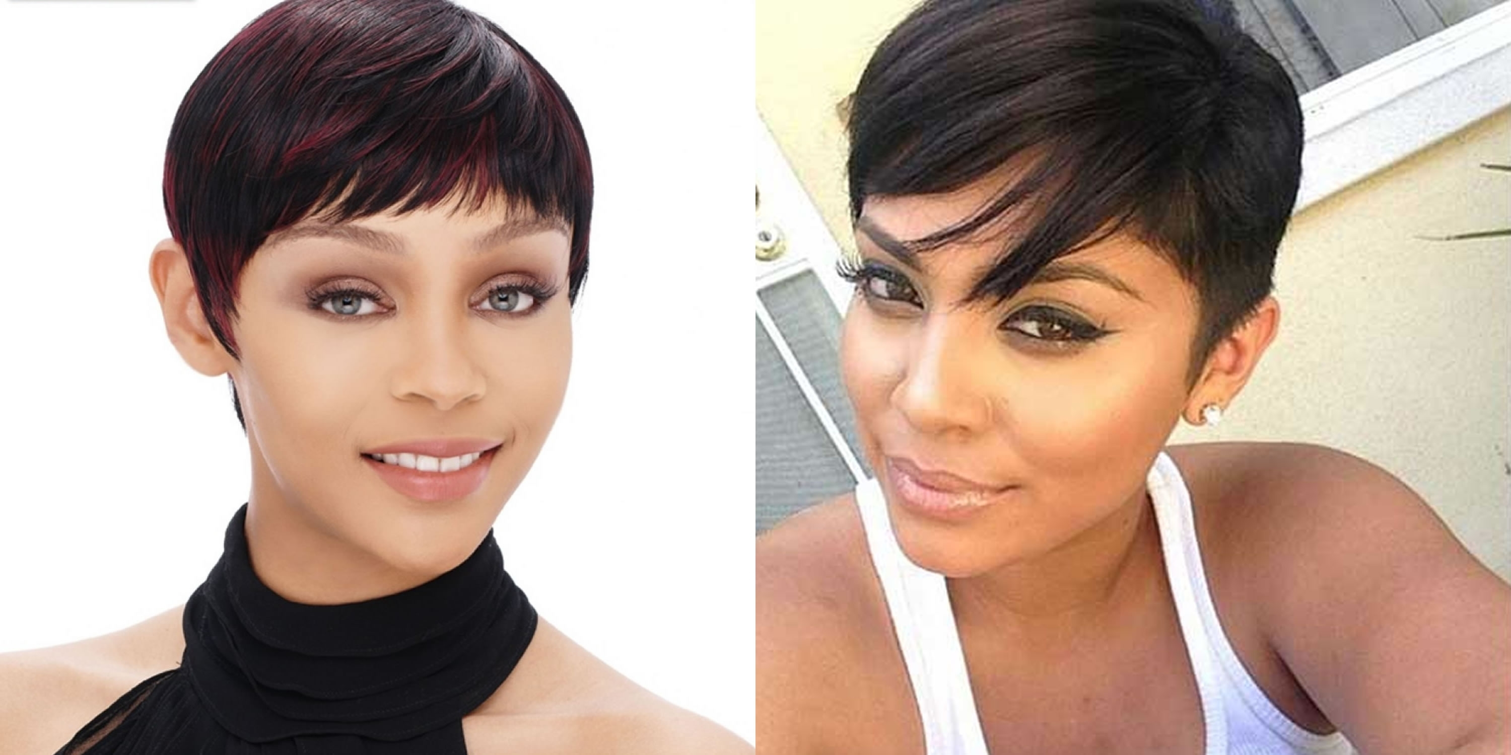Displaying Gallery Of Short Pixie Hairstyles For Straight Hair View