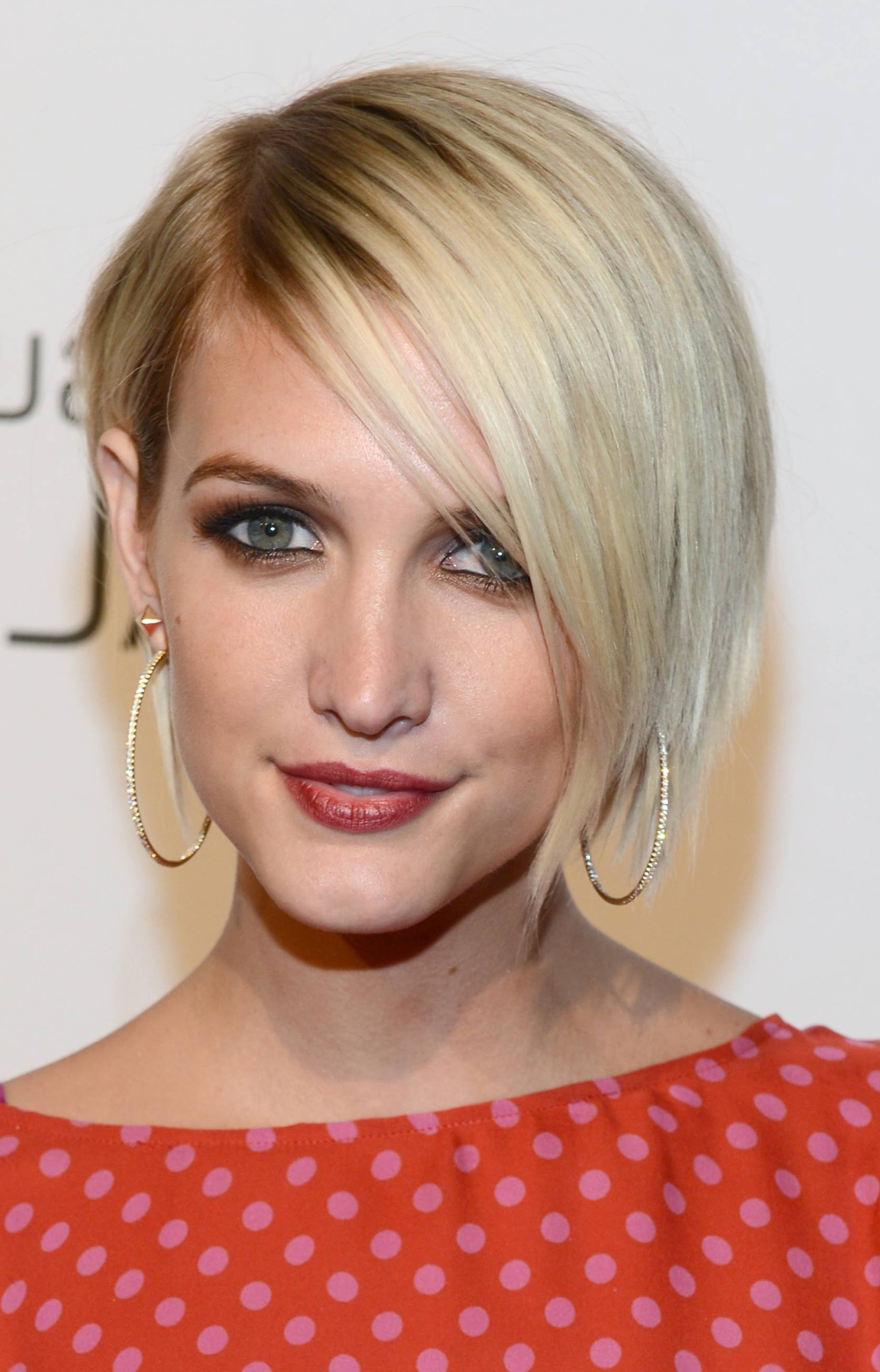Pixie Hairstyles For Fine Thin Hair Ashlee Simpson Asymmetrical Pertaining To Most Current Pixie Hairstyles For Fine Hair (View 13 of 15)