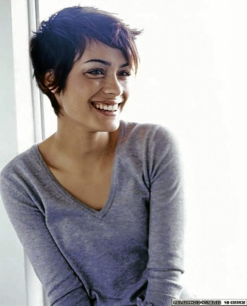 Pixie Hairstyles For Thick Wavy Hair 62 With Pixie Hairstyles For With Best And Newest Pixie Hairstyles For Thick Wavy Hair (View 3 of 15)