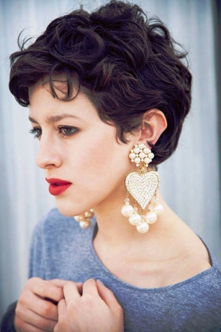 Featured Photo of Pixie Hairstyles For Thick Curly Hair