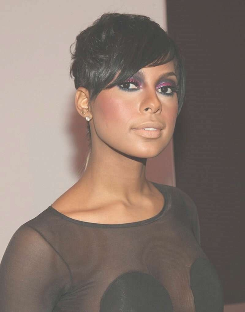 Pixie Short Hair For Black Women Cute Short Pixie Hairstyles For Inside Most Popular Black Women Pixie Hairstyles (View 14 of 15)