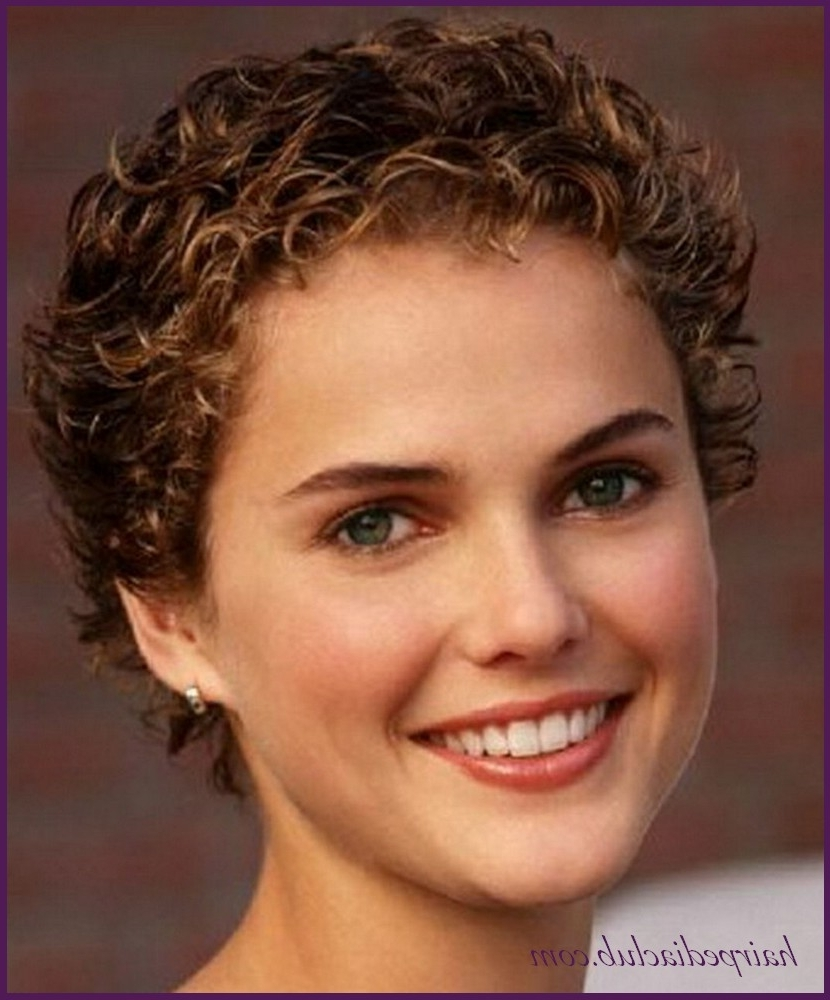 Pixie Short Haircuts For Curly Hair And Round Faces – Hairstyles With Recent Pixie Hairstyles With Curly Hair (View 12 of 33)