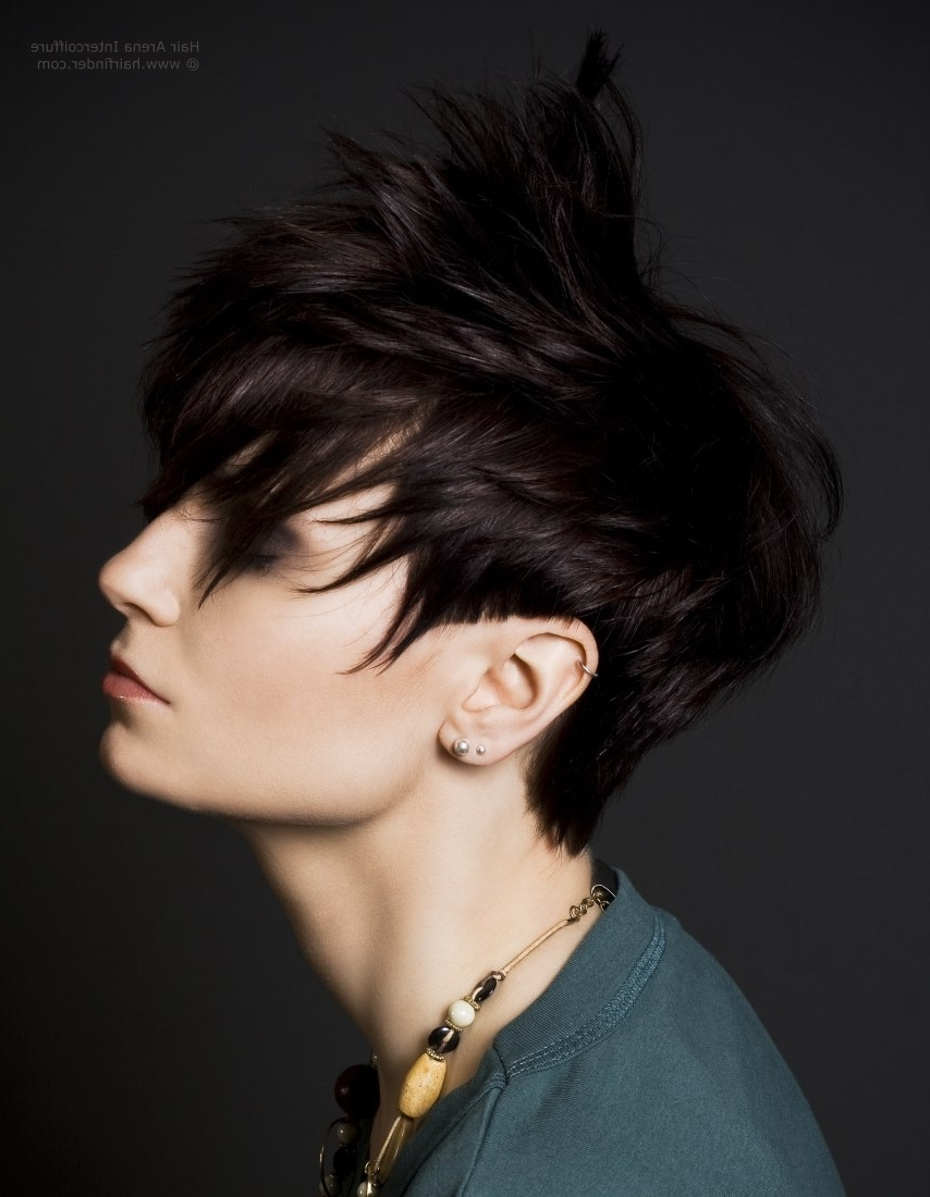 Pixie Style Haircut With Tapered Sides And A Curved Fringe In Newest Men Pixie Hairstyles (View 2 of 15)