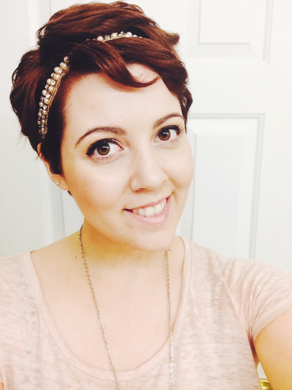 Pixie With Headband While I Grow It Out A Little   Short Hair Pertaining To Current Pixie Hairstyles With Headband (View 6 of 15)