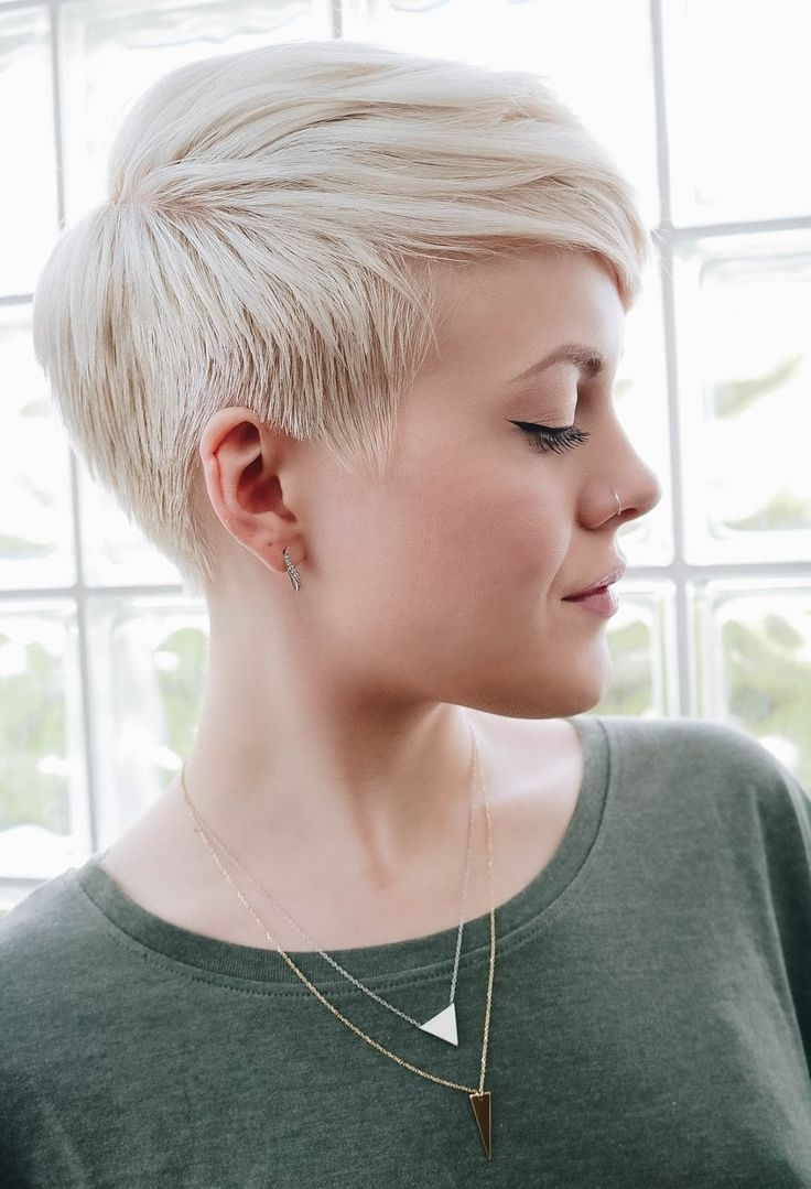 Platinum Short Pixie Haircuts | Best 25+ Platinum Pixie Ideas On Throughout Most Current Short Blonde Pixie Hairstyles (View 2 of 15)