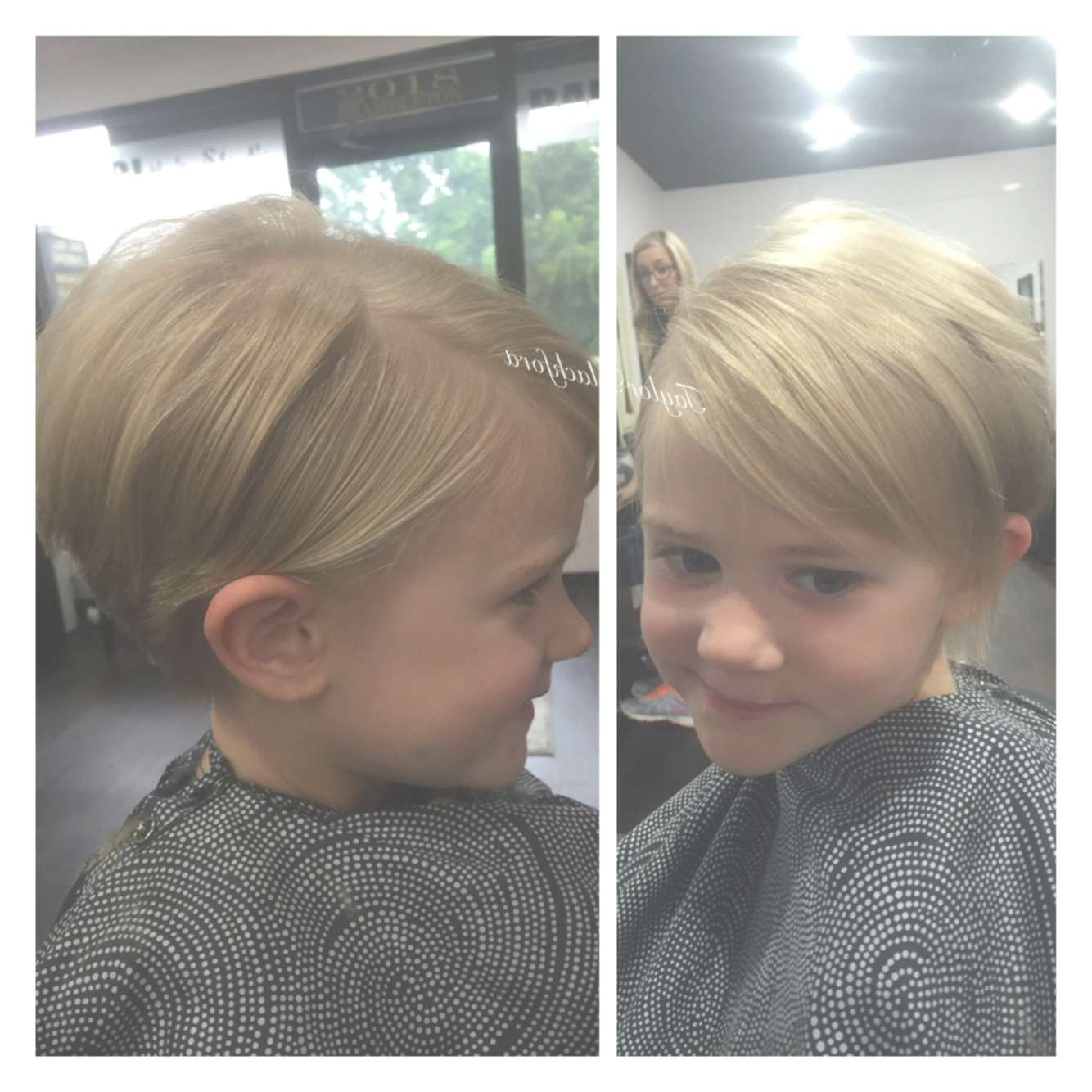 Precious Pixie Cut On This Little Girl! Perfect Haircut For Fine Inside Most Current Baby Girl Pixie Hairstyles (View 6 of 15)