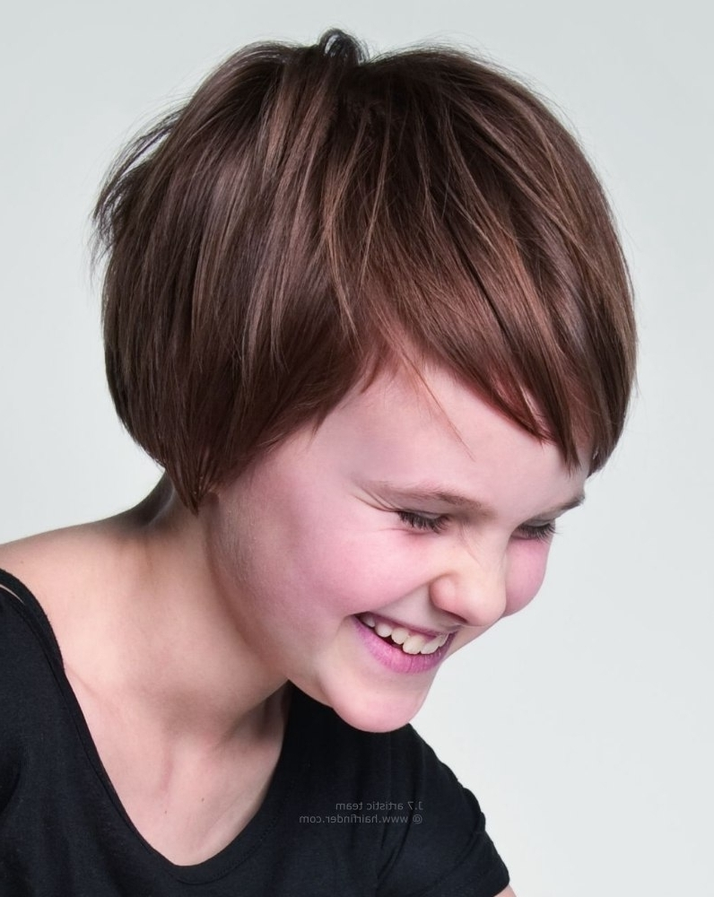 Really Short Haircuts For Little Girls Cute Short Hairstyles For For Most Recently Little Girls Pixie Hairstyles (View 5 of 15)