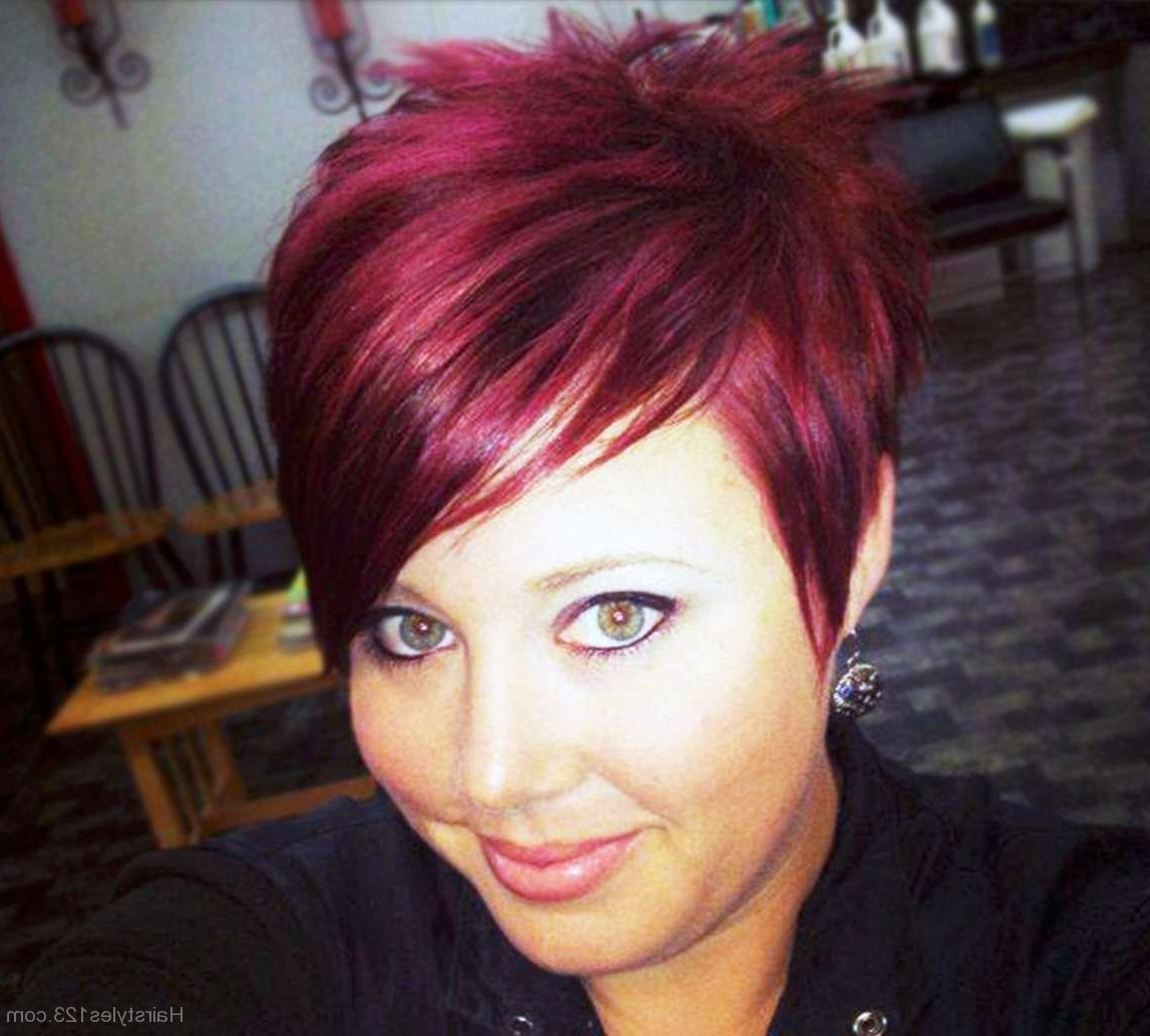 Red Pixie Hairstyle With Regard To Best And Newest Emo Pixie Hairstyles (View 8 of 15)