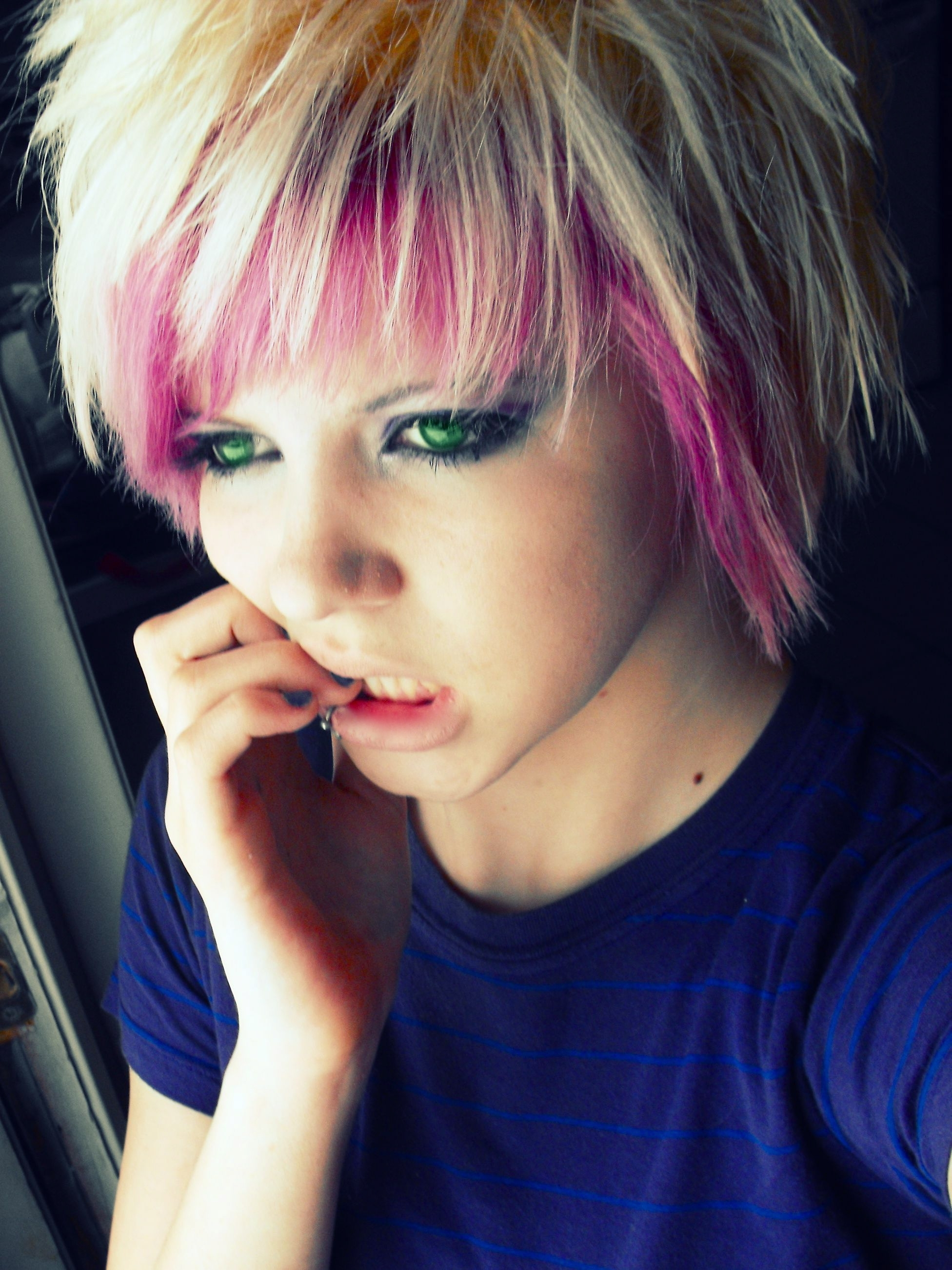 Scene+Girls+With+Pink+Hair | Short Blonde Emo Hairshort Scene Hair Pertaining To Latest Emo Pixie Hairstyles (View 11 of 15)