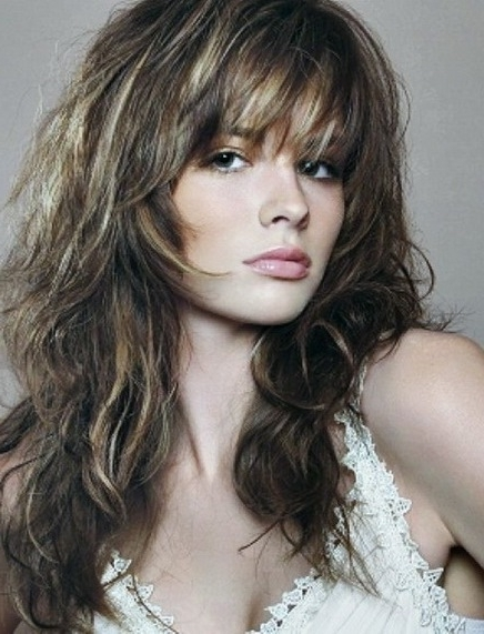 Shaggy Hairstyle With Bangs Long Layered Haircuts With Bangs Intended For Most Recently Long Shaggy Hairstyles (View 11 of 15)