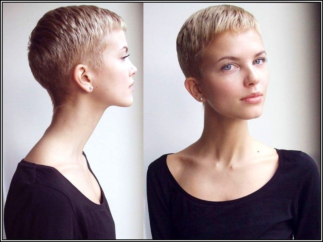 Shaved Back And Sides With Fringe – Google Search | Hair With Recent Buzzed Pixie Hairstyles (View 2 of 15)