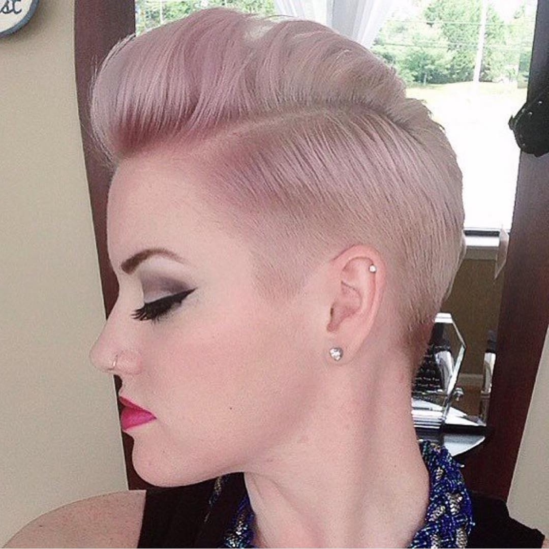 Short And Sweet! Haircut And Dusty Pink And Lilac Hair Color With Regard To Most Recently Pink Short Pixie Hairstyles (View 5 of 15)