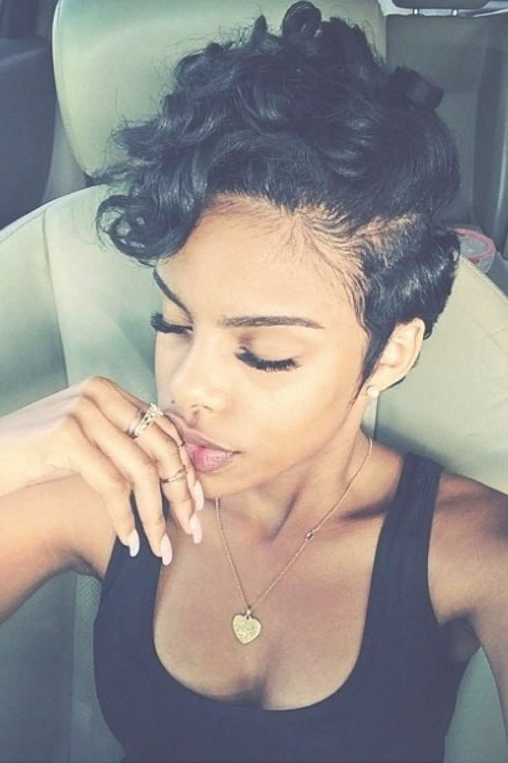 Short Curly Hairstyle – Sexy Curly Hairstyle For Black Women For Most Popular Black Girl Pixie Hairstyles (View 11 of 15)