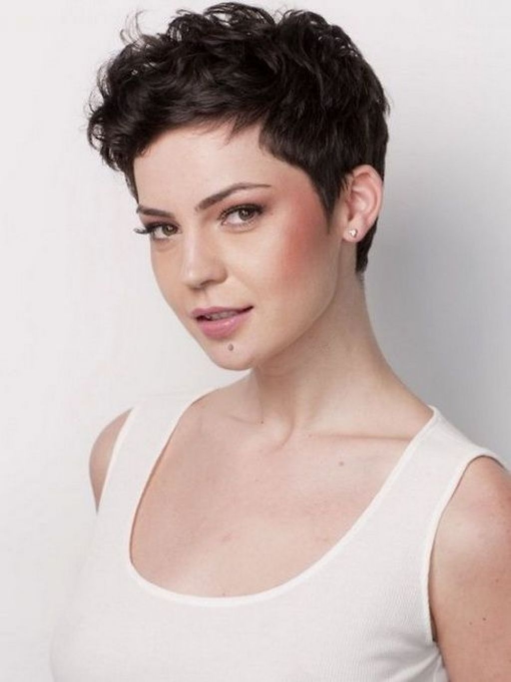 Short Curly Pixie Haircuts   Styles   Pinterest   Curly Pixie Throughout 2018 Wavy Pixie Hairstyles (View 15 of 15)