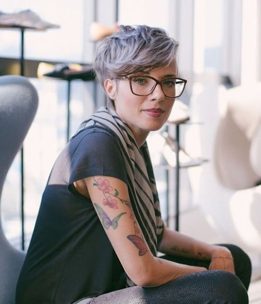 Short Hair Pixie Cut Hairstyle With Glasses Ideas 73 – Fashion Best Inside Most Popular Pixie Hairstyles With Glasses (View 10 of 15)