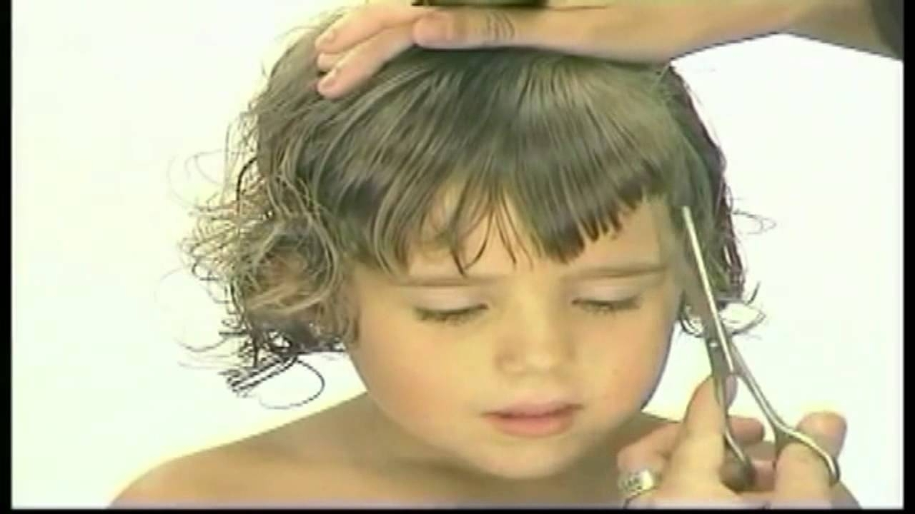 Short Haircut For A Little Girl – Youtube In Most Current Little Girls Pixie Hairstyles (View 6 of 15)