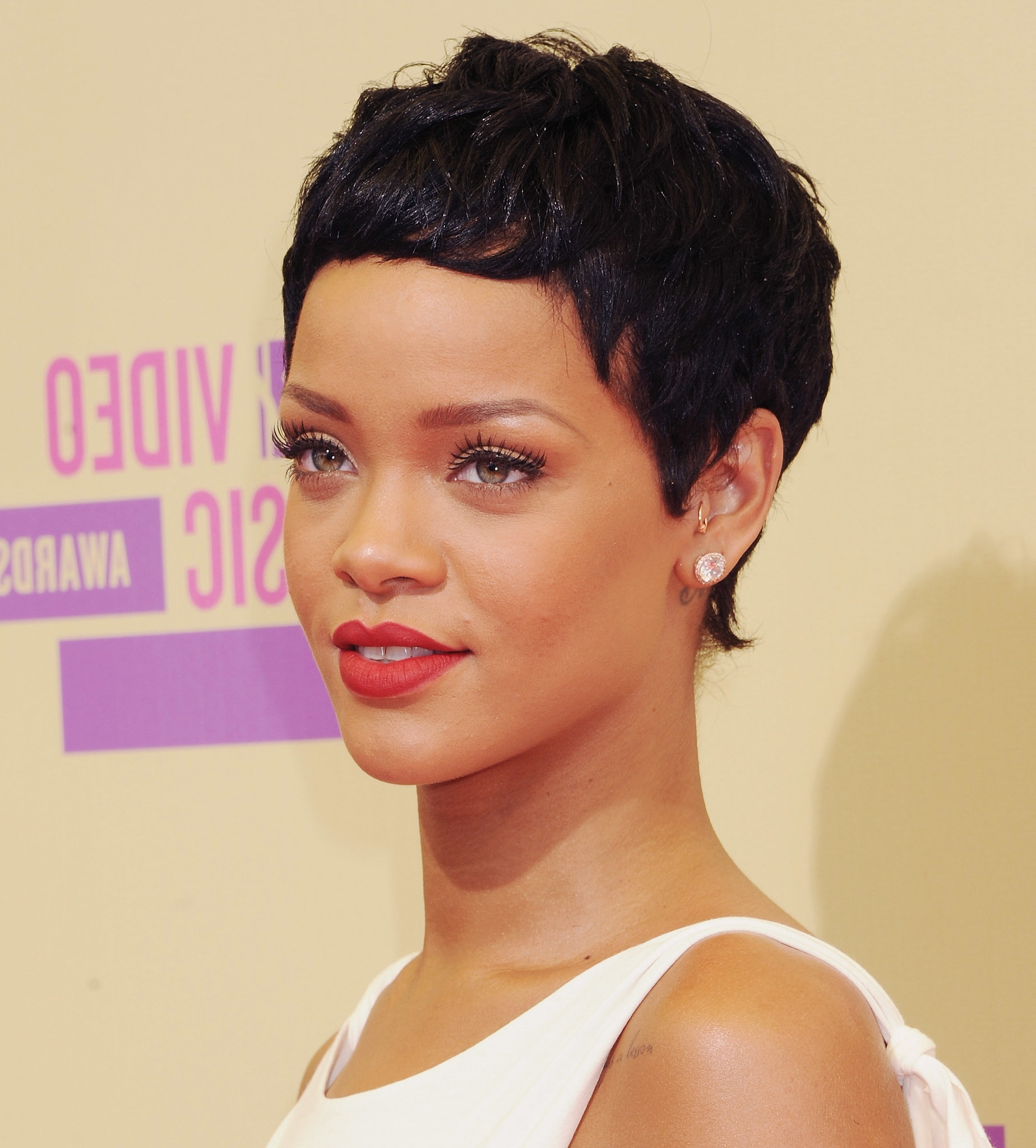 Short Haircut Trends From Celebrities For Black Women – Page 2 Within Recent Posh Pixie Hairstyles (View 15 of 15)