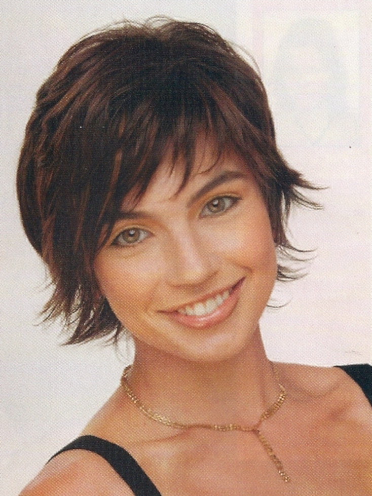 Photos Of Short Shaggy Hairstyles For Round Faces Showing 10 Of 15