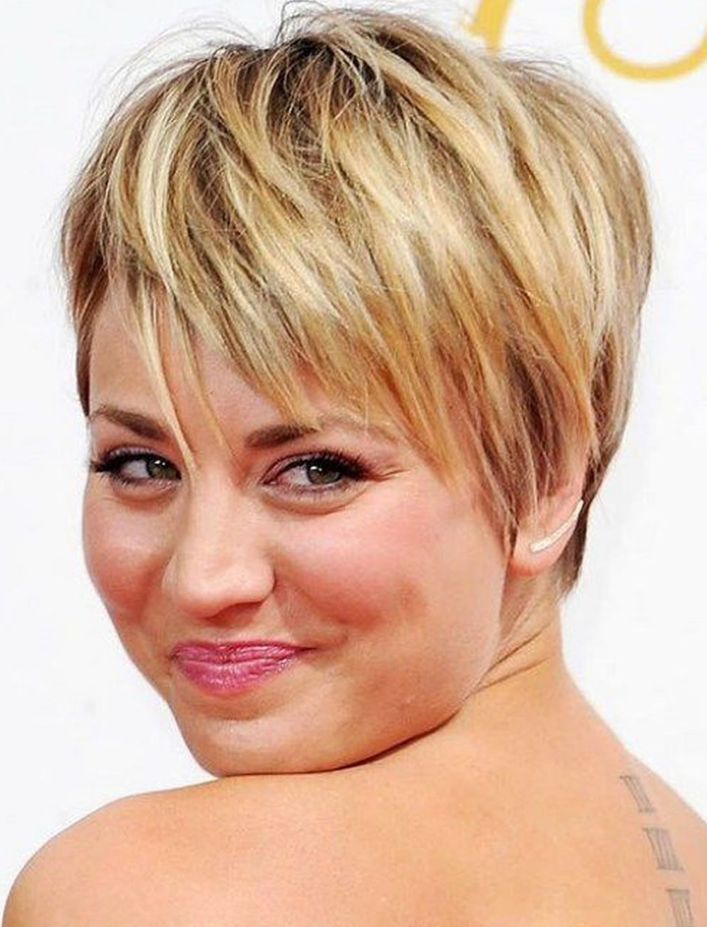 Short Haircuts For Round Face Thin Hair Ideas For 2018 | Page 2 Of 4 Intended For Recent Pixie Hairstyles For Round Face (View 11 of 15)