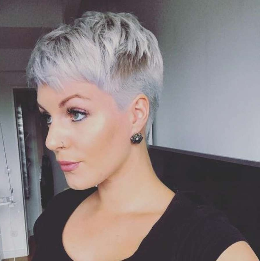view gallery of short pixie hairstyles for gray hair (showing 6 of