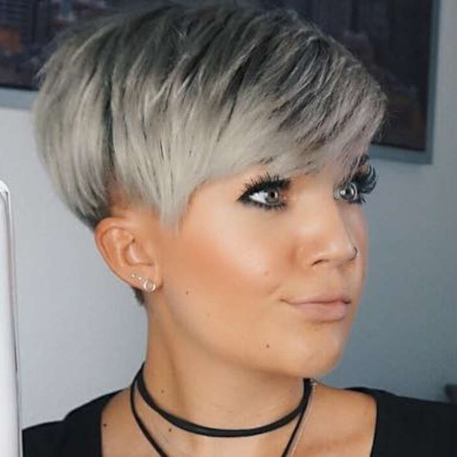Image Gallery of Gray Hair Pixie Hairstyles (View 11 of 15 Photos)