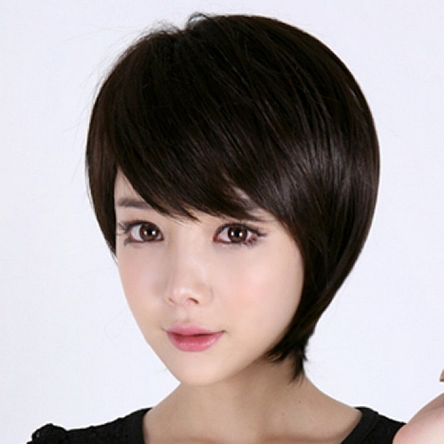 Short Hairstyles For Asian Women With Oval Faces Pertaining To Recent Pixie Hairstyles For Asian Round Face (View 2 of 15)
