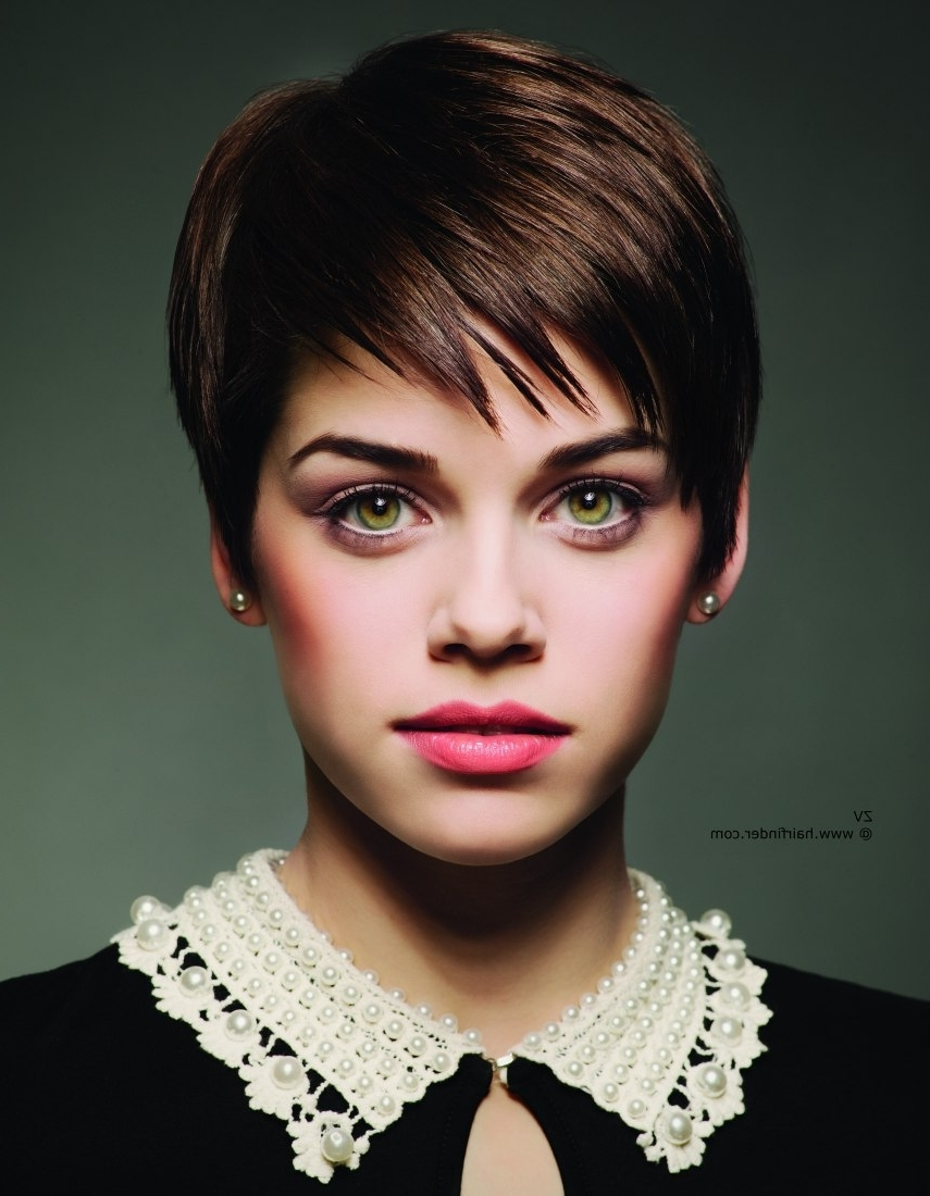 Short Hairstyles For Brunettes 2014 – Hairstyle For Women & Man ?? For Newest Brunette Pixie Hairstyles (View 14 of 15)