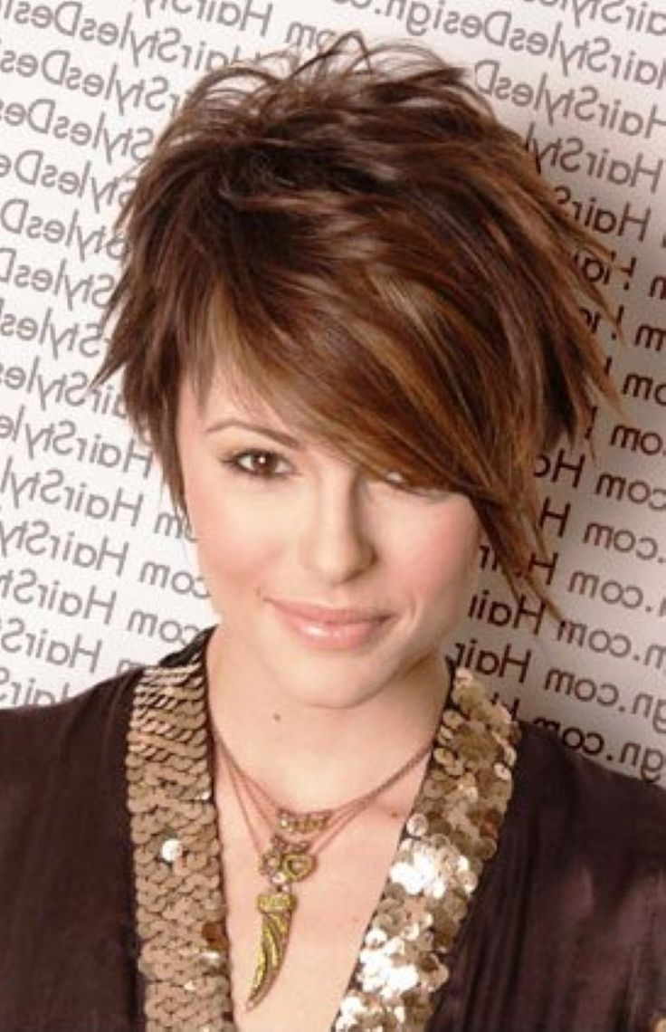 Short Hairstyles For Fat Face – Hairstyle Getty With Most Popular Pixie Hairstyles On Chubby Face (View 13 of 15)