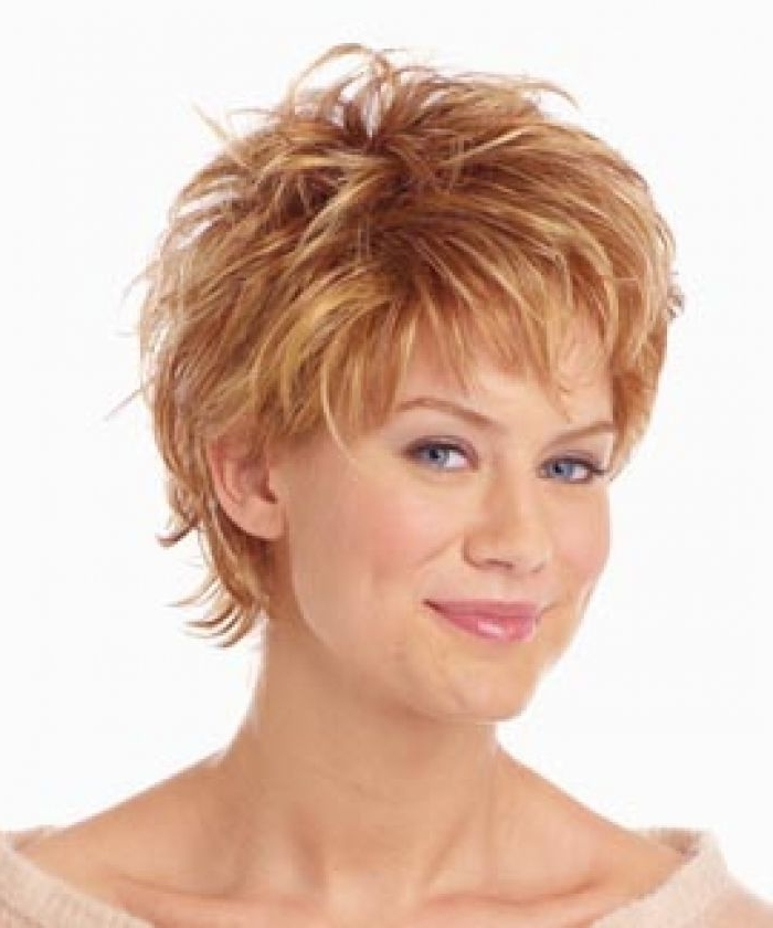 View Gallery Of Short Shaggy Hairstyles For Round Faces Showing 14
