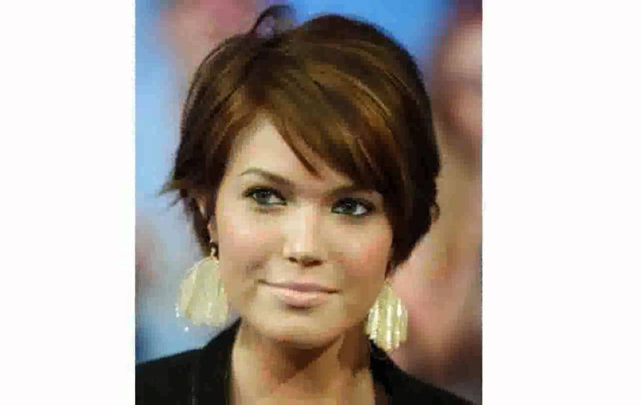 Short Hairstyles For Fat Faces Women – Youtube With Recent Pixie Hairstyles On Chubby Face (View 9 of 15)