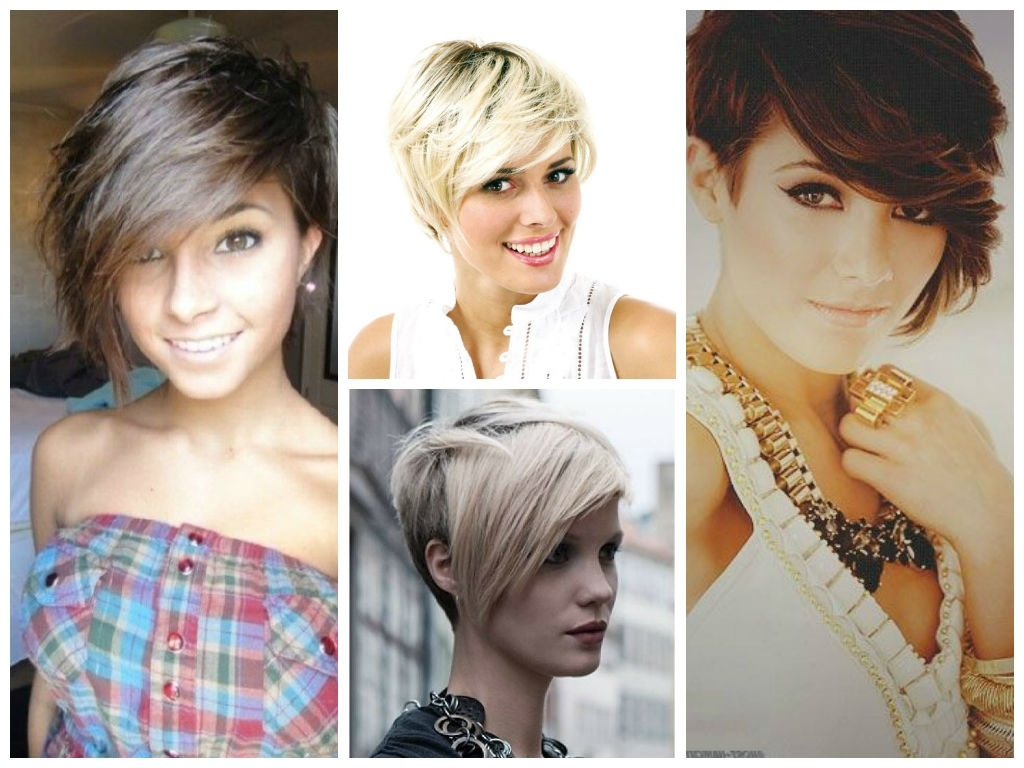 Short Hairstyles For The Fall – Hair World Magazine With Latest Pixie Hairstyles With Long Side Swept Bangs (View 4 of 15)