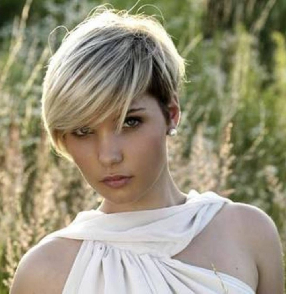 Explore Gallery Of Pixie Hairstyles For Chubby Faces Showing 15 Of