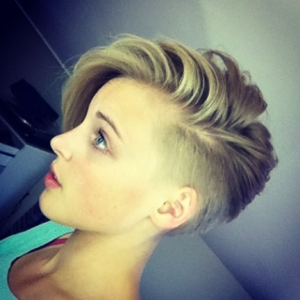 Displaying Photos Of Pixie Hairstyles With Shaved Sides View 3 Of