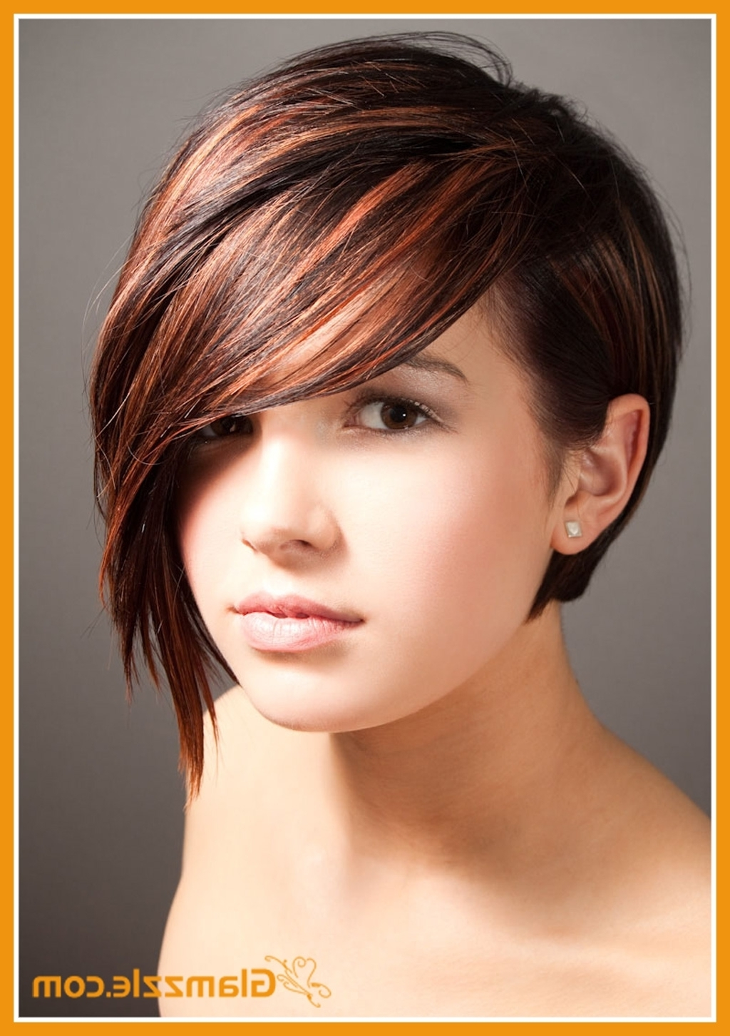 Short Hairstyles With Side Fringe Short Haircuts With Long Side Regarding Most Current Pixie Hairstyles With Long Side Swept Bangs (View 3 of 15)