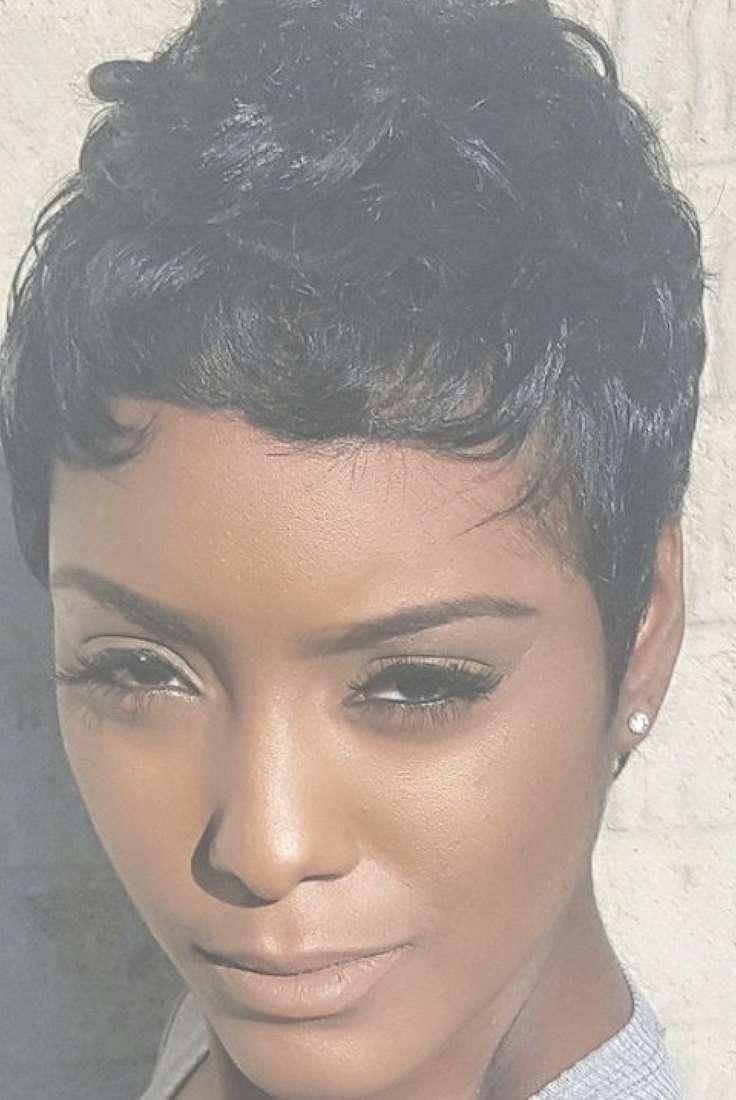 Short Pixie Black Hairstyles   Fade Haircut Throughout 2018 Black Short Pixie Hairstyles (View 4 of 15)