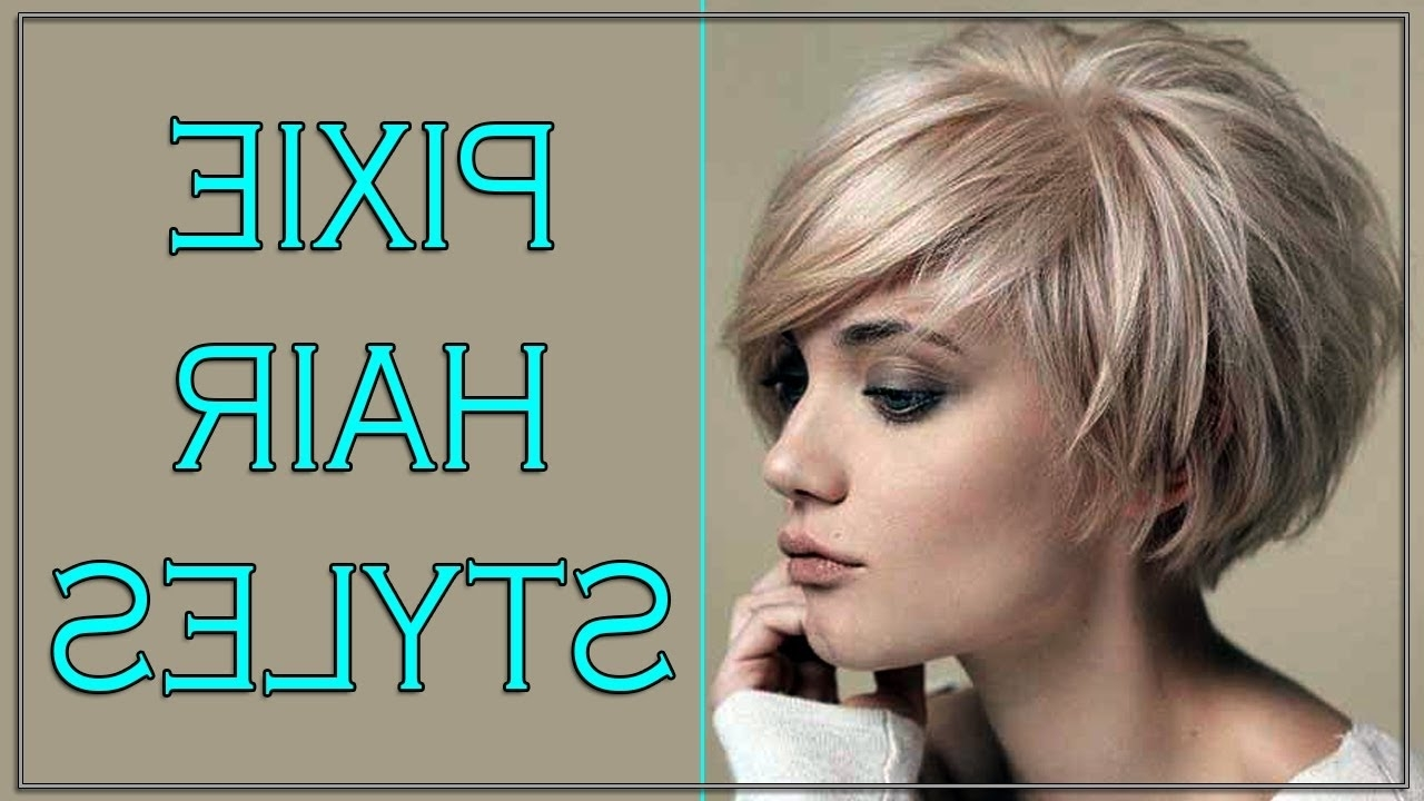 Photos Of Short Pixie Hairstyles For Round Faces Showing 10 Of 15
