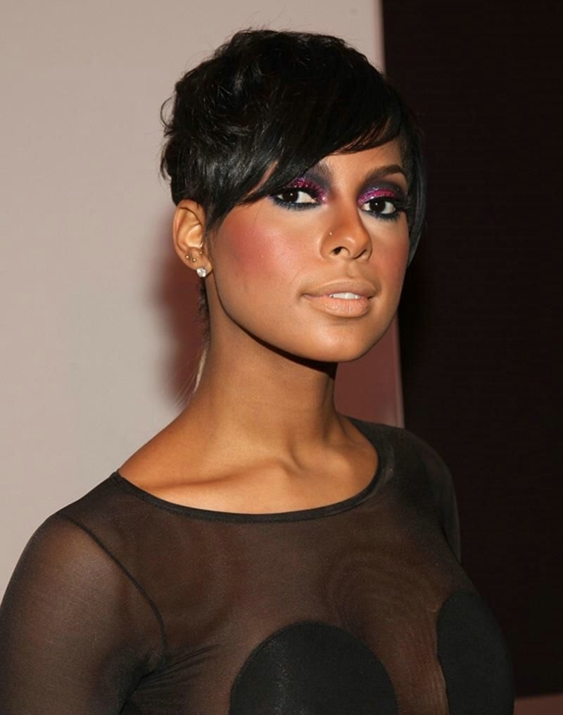Short Pixie Hairstyles For Black Women – Women Medium Haircut Within Current Pixie Hairstyles For Black Women (View 11 of 15)