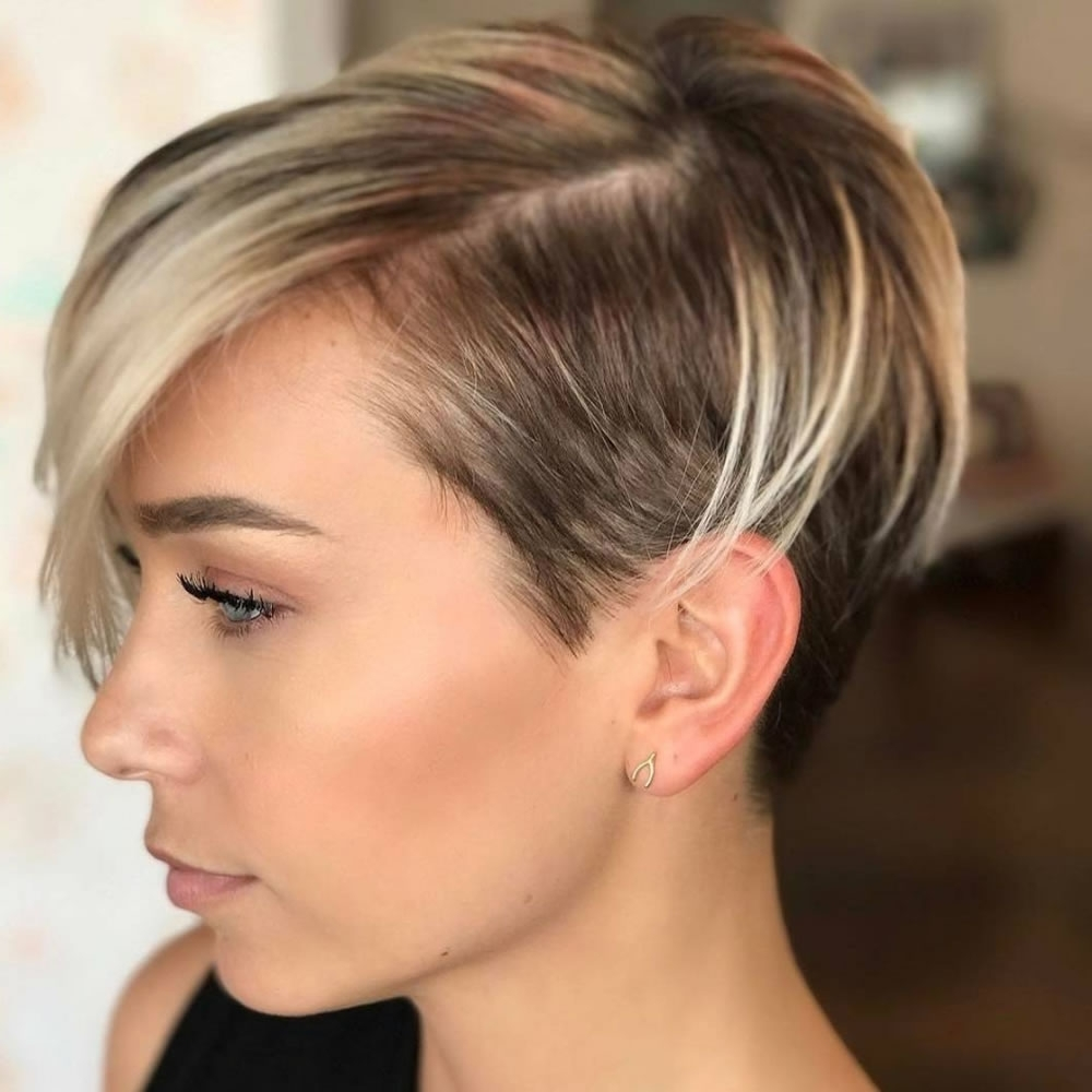 Short Pixie Hairstyles For Ladies 2018 2019 In Current Ladies Pixie Hairstyles (View 3 of 15)