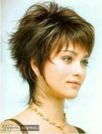 15 Inspirations of Short Shaggy Hairstyles For Round Faces
