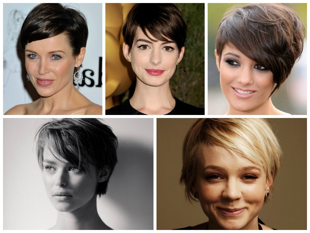 Side Swept Bangs Pixie Hair Cut Intended For Latest Hairstyles With Long
