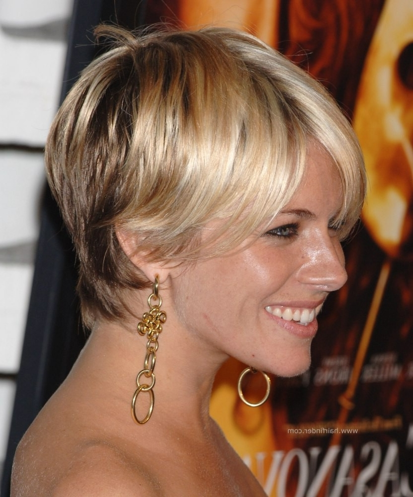 Sienna Miller | Shaggy Pixie Hairstyle, Razor Cut And With Bangs For Most Up To Date Long Shaggy Pixie Hairstyles (View 11 of 15)