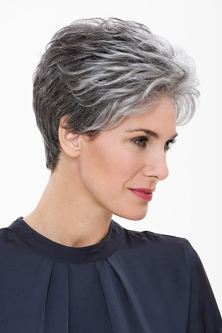 Image Gallery Of Short Pixie Hairstyles For Gray Hair View 12 Of 15