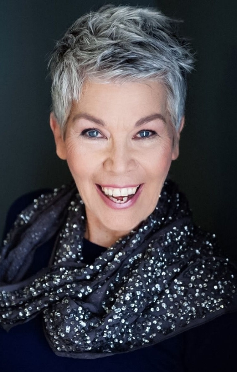 Stylish Grey Haired Women Over 40 | My New Cut | Pinterest | Gray For Newest Grey Pixie Hairstyles (View 2 of 15)