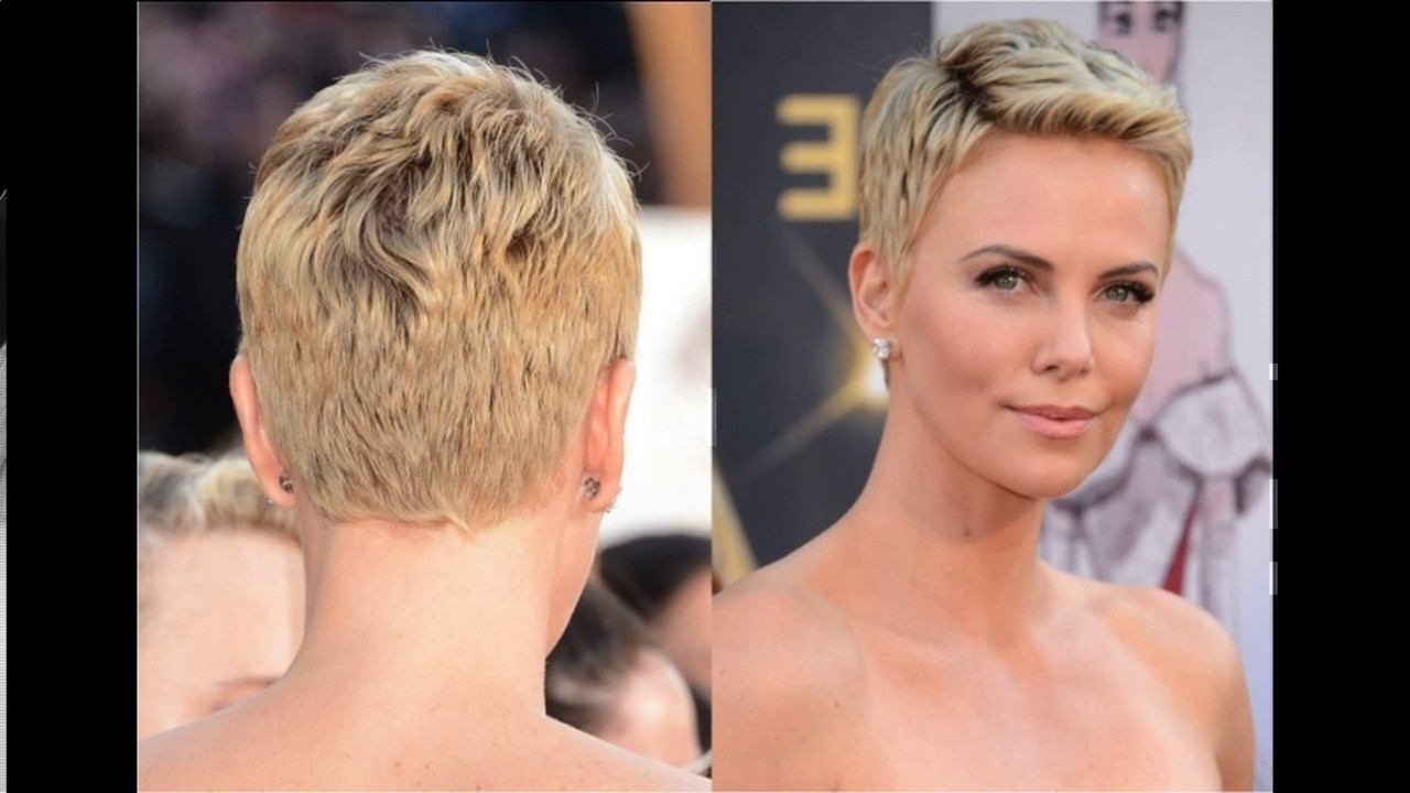 2018 Popular Super Short Pixie Hairstyles For Round Faces