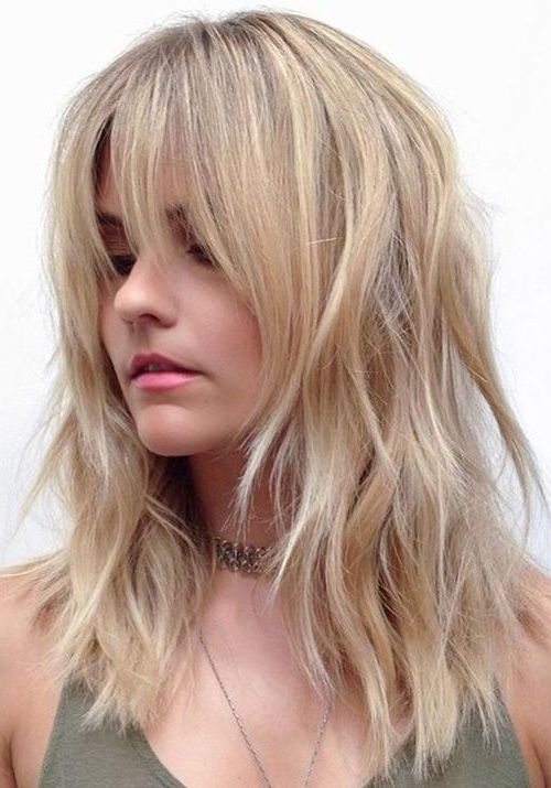 The 25+ Best Medium Shaggy Haircuts Ideas On Pinterest | Lob Curly For Newest Medium Shaggy Haircuts With Bangs (View 7 of 15)