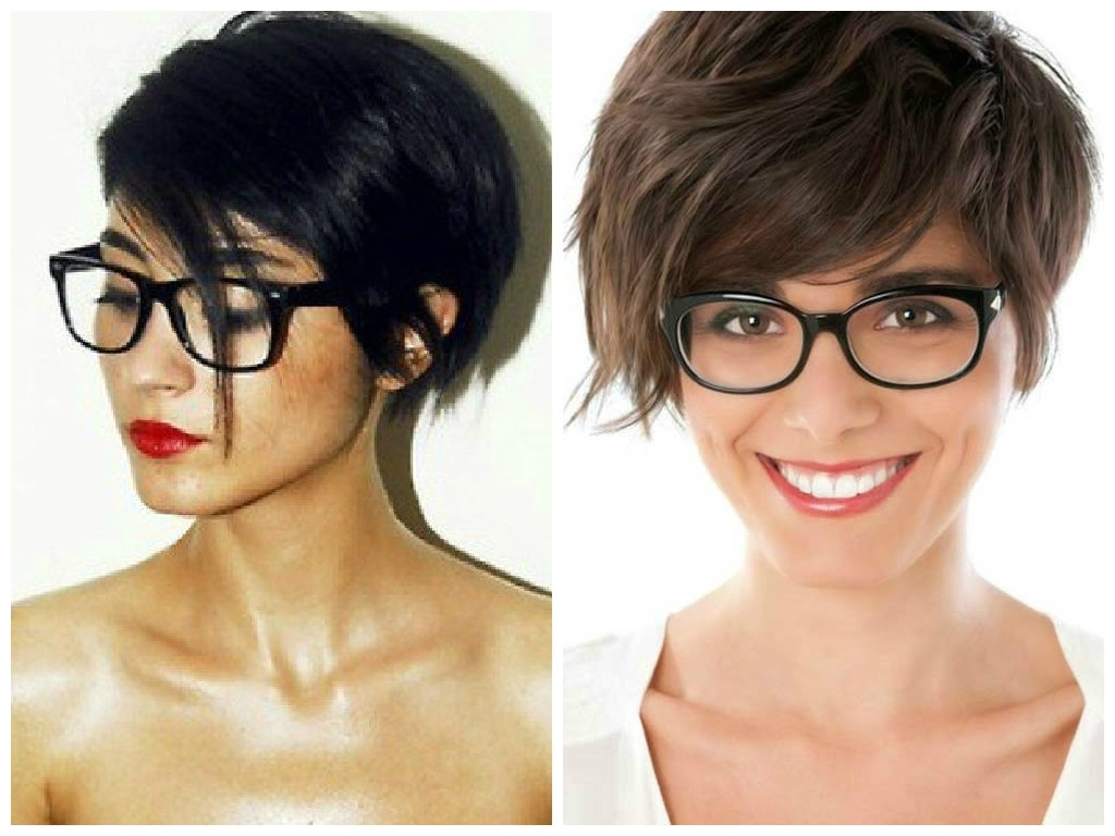 The Best Short Hairstyles To Wear With Glasses – Hair World Magazine Pertaining To Most Recent Pixie Hairstyles With Glasses (View 12 of 15)