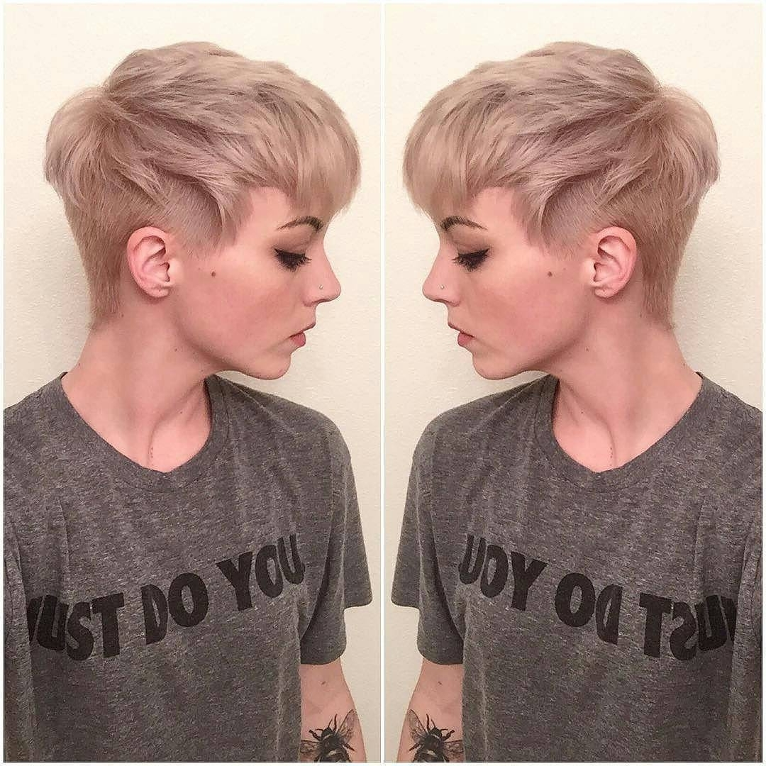 The Pixie Revolution: Pixie Cut/sidecut/undercut/buzzed Pics 12/3 Regarding Most Recent Buzzed Pixie Hairstyles (View 12 of 15)